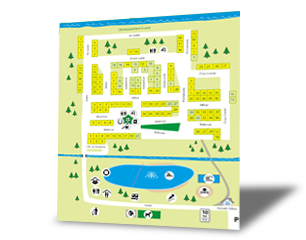 Campground Map - Camping du Lac Sandysun